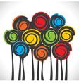 abstract retro color tree vector image