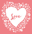 Lovely card Heart vector image