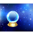 Snow Globe on a Blue Background vector image vector image