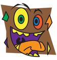 Brown Monster vector image