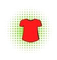 Men t-shirt icon comics style vector image vector image