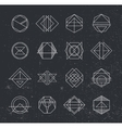 Set of Retro Vintage Hipster Insignias and vector image