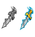 ancient dagger tattoo vector image