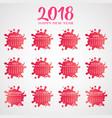 annual calendar 2018 vector image