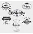 Badges Snowboard handmade designed brush lettering vector image