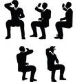 businessman drink vector image