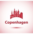 Copenhagen Denmark Nordic capital City skyline vector image