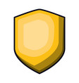 shield in yellow color with brightness vector image