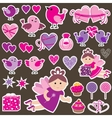 Stickers with Scrapbook vector image