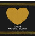 Valentines Day Greeting Card Golden Heart vector image