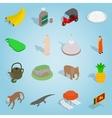 Sri-lanka set icons isometric 3d style vector image