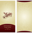 Menu design template vector image vector image