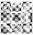 square halftone set vector image