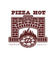 flat icon pictogram of pizza in fireplace vector image