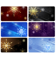 business cards with snowflakes vector image vector image