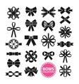 Black Bows Set vector image