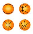 set basketball ball vector image