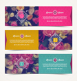Three elegant banners with floral background vector image vector image
