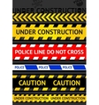set caution tapes seamless strip warning line vector image vector image