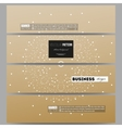 Set of modern banners Abstract polygonal low poly vector image