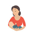 circle icon depicting mother breastfeeding her vector image