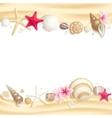 Seashell frame vector image