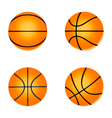 set basketball ball vector image