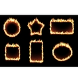set of fire frames vector image
