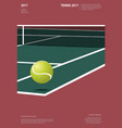 tennis championship poster vector image