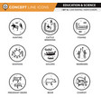 concept line icons set 16 cave art vector image