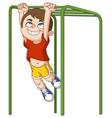 boy climbs monkey bars vector image vector image