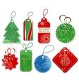Christmas price tags vector image