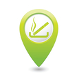 smoking GREEN map pointer vector image