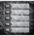 Numbered list template with transparent glass vector image vector image