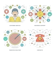 Flat line Customer Services Support Target vector image