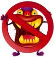 Stop virus vector image vector image