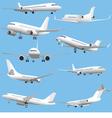 Passenger jet planes vector image