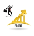 Profit design Business icon White background vector image