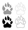animal footprint icon grey and black color vector image