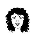 beautiful face vector image