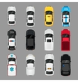 Cars icons top view vector image