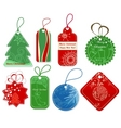 Christmas price tags vector image
