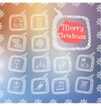 Set of Christmas icon vector image