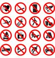 set of forbidden signs vector image