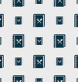 cook book icon sign Seamless pattern with vector image