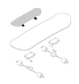 Skateboard structure Board for skiing vector image