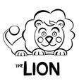 Lion Outline vector image