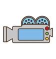 cartoon camera film record movie vector image