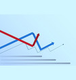 graphic set finance arrows chart infographic vector image