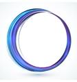 Blue shining abstract circle frame vector image